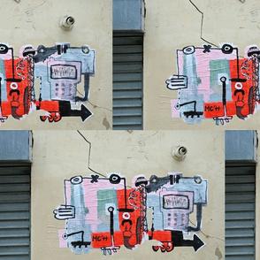 Street Art Channeling Stuart Davis