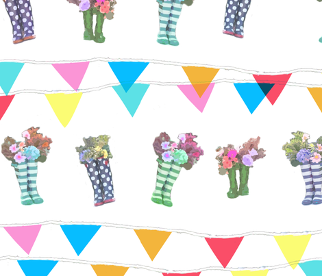 Party Wellies fabric by rosiejiggins on Spoonflower - custom fabric