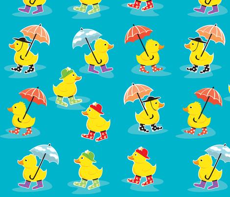 DuckyRainDay fabric by amybiggers on Spoonflower - custom fabric