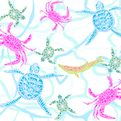 Pastel Sea Life
