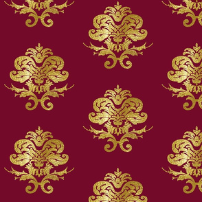 D'Artagnan's Damask in Gold and Purple