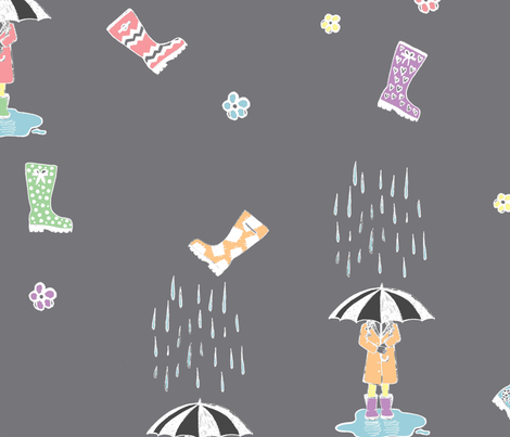 Gumboots in Pastel fabric by olivia_henry on Spoonflower - custom fabric