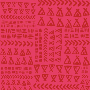 TeePee Texture// Pink and Maroon