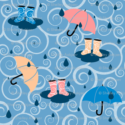 If It Weren't for your Gumboots - Blue