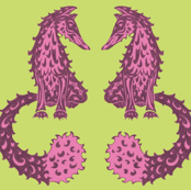Feelin' Foxy - Lime & Magenta