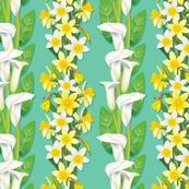 Calla Lillies And Daffodils