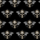 skull whith bat ears