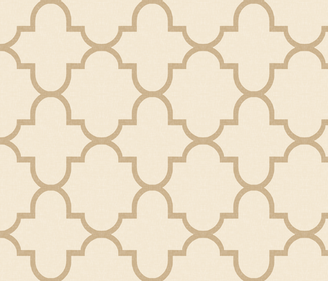 Bristol in Cream and Tan fabric by sparrowsong on Spoonflower - custom fabric