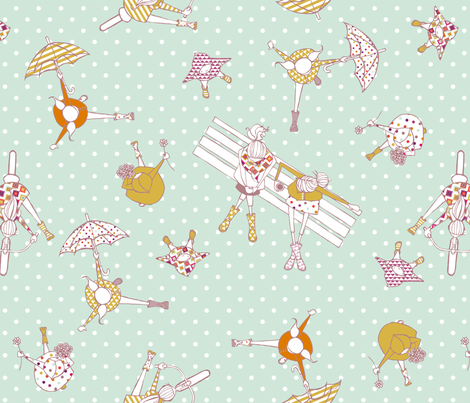 Playful Wellies fabric by mrshervi on Spoonflower - custom fabric
