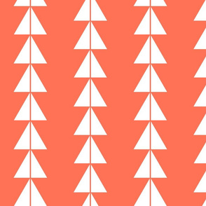 White Triangle Arrows on Coral