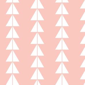 White Triangle Arrows on Blush