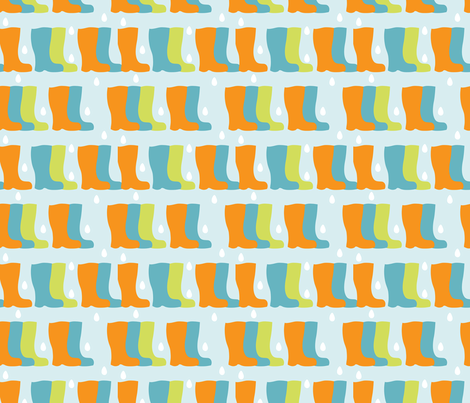 Traffic Wellies fabric by kirstymjwright on Spoonflower - custom fabric