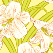 Lilies In Yellow And Green