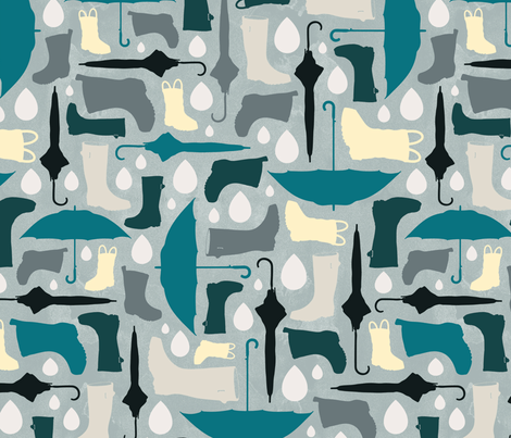 Rainy Day fabric by pollyannahandmade on Spoonflower - custom fabric
