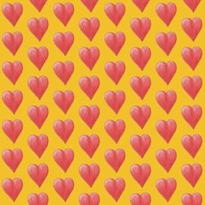 Watercolor Love Hearts (yellow)