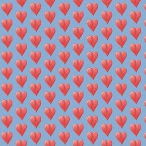 Watercolor Love Hearts (Blue)