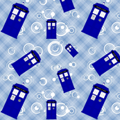 Police Box Blue Plaid -5 in