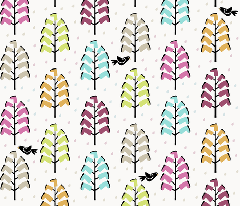 Boot Trees fabric by lbishop on Spoonflower - custom fabric