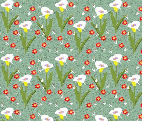 I love lilies fabric by fiona_sinclair_design on Spoonflower - custom fabric