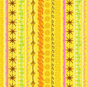 Organic Pear Stripe:Yellow