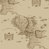 Map Of Middle Earth Repeated Large