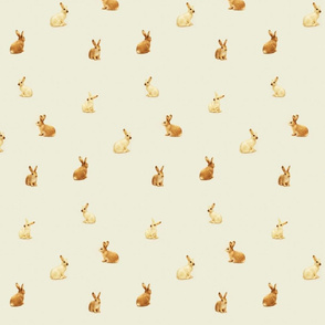Bunnies Scattered on Taupe