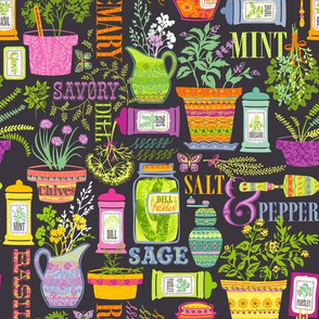 Organic Herbs and Spices: Gray