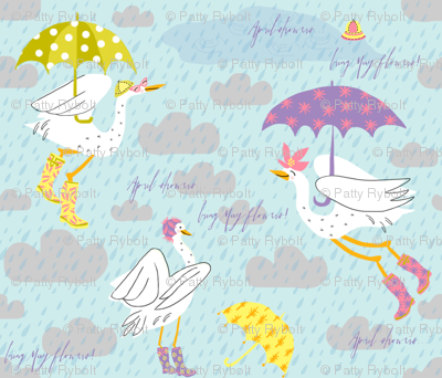 Wellies + Umbrellies!