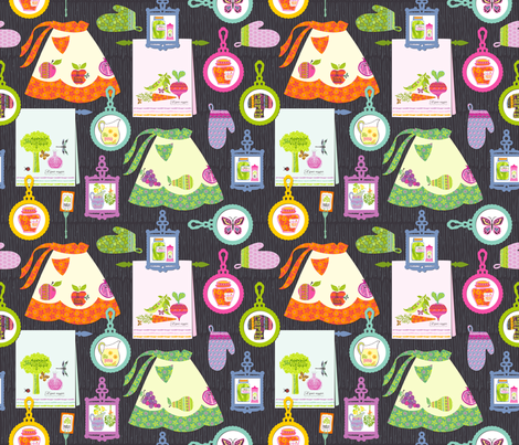Organic Fruitation Kitchen fabric by sheri_mcculley on Spoonflower - custom fabric