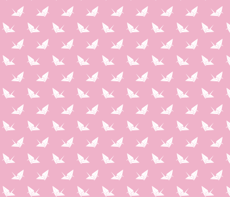 Folded Flock: Bubblegum fabric by nadiahassan on Spoonflower - custom fabric