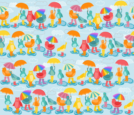 Birds in Boots fabric by meg56003 on Spoonflower - custom fabric