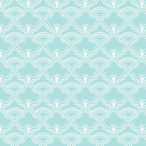 Scallop Lace Pale Robins Egg Blue