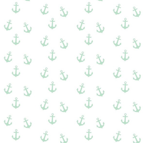 Mint Anchors on White