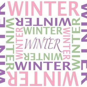 Personalized Name Fabric Winter