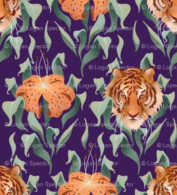 Tiger Lilies Damask