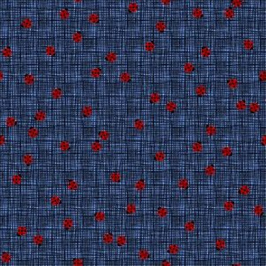 Ladybugs (Blue Background)