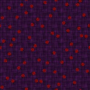 Ladybugs (Violet Background)
