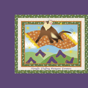 Magic Flying Carpet Ferret Plum