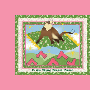 Magic Flying Carpet Ferret Pink