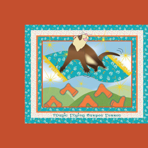 Magic Flying Carpet Ferret Burnt Orange