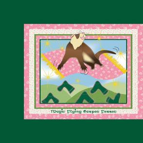 Magic Flying Carpet Ferret Green