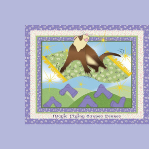Magic Flying Carpet Ferret Lavender