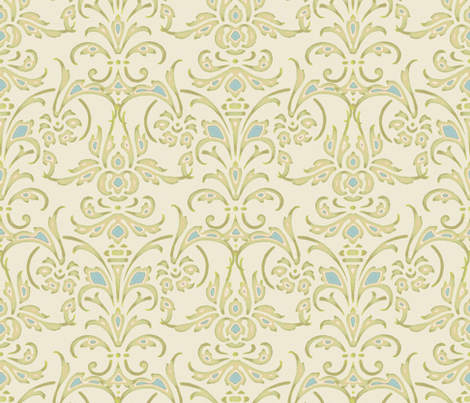 Christina II Damask fabric by peacoquettedesigns on Spoonflower - custom fabric