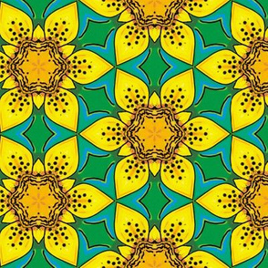 Tiger Lily Kaleidoscope fabric