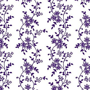 Purple Trailing Floral