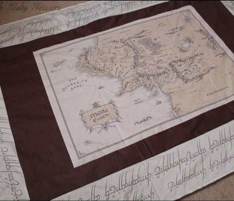 Map Of Middle Earth 42x28""