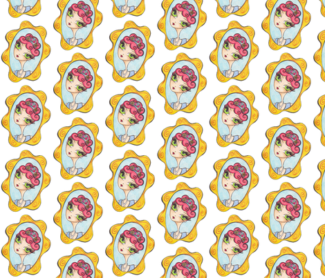 Mirror  Mirror fabric by niccidot_c_a on Spoonflower - custom fabric
