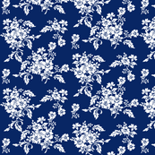 Genevieve Damask Floral in Atlantic