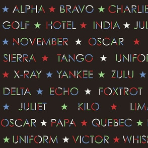 Nautical Alphabet in 50s colors