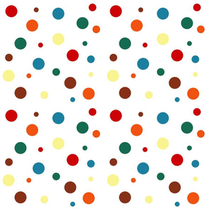 Chocolate Rainbow Dots - Small